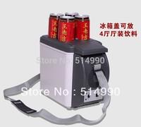 2014 2 piece Black Color Brand New 6l Mini Car Refrigerator /Car Small Refrigerator Dual-use Refrigerator Insulin Breast 6-10LM
