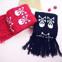 Freeshipping Girlbox knitted autumn and winter yarn skull scarf muffler scarf lovers scarf ultra long