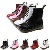 unisex martin boots women motorcycle boots for men new 2013 PU mid-calf boots women shoes short boots MB107