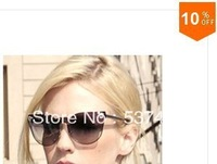 Free Shipping 2013 new celebrity wholesale or retail quality Women Designer Metal Fashion Sunglasses -- VE2120