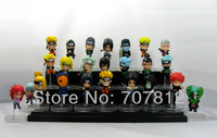 2013 Crazy Party  Naruto Aaction Figurse 24PCS/Set Cute 6CM  Collections Naruto/Sasuke/Obito/Kakashi  Free Shipping Best Gifts