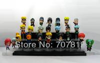 2013 Crazy Party  Naruto Aaction Figurse 24PCS/Set Cute 6CM  Collections Naruto/Sasuke/Obito/Kakashi  Free Shipping Best Gifts