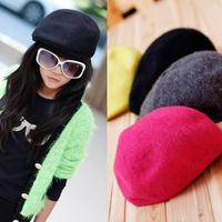 2013 female child fleece knitted beret hat parent-child child