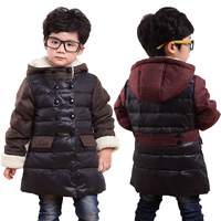 Baby down coat 2013 child down coat male child medium-long small children's clothing winter thickening
