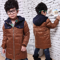 2013 male child down coat boys winter child clothing medium-long children