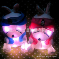 Luminous plush doll gift lovely rascal rabbit child gifts