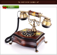 Technology fashion antique telephone fashion vintage wood rope
