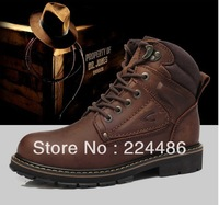 2013 New Winter Warm Casual Men Shoes Camel Active Brand Genuine Leather Brown Boots For Men Has Fur inside Free Shipping