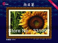 Big size Sunflower pattern 11CT precise printed aida fabric handcraft cross stitching kits free shipping