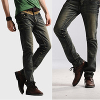 Free Shipping Leisure&Casual pants 2013 New Newly Style TOP brand cotton Men's Jeans Trousers Straight Leg
