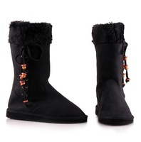 2013 NEW ARRIVAL National Women boot for Lady winter snow boot & Black