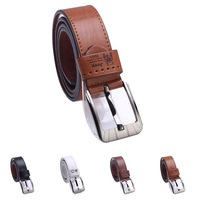 Male strap women's belt genuine cowhide leather belt brown white the trend all-match pin buckle  cinto de couro