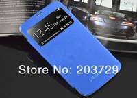 For Samsung Galaxy Mega 6.3 inch i9200 9200 Original Cover Leather PU Battery Door Smart Case 20pcs/lot