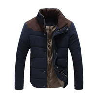 2013 Men's Colorant Match Brief Thermal Wadded Jacket Thickening Cotton-padded Jacket Winter Slim Jacket free shipping
