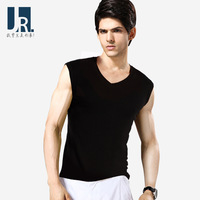 Male vest sleeveless vest 100% cotton wide shoulder vest loose sports elastic 100% cotton waistcoat vesseled basic