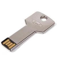 New Metal Key Shape Thumb Drive Flash Memory Disk 2GB4GB 8GB 16GB 32GB USB 2.0 Silver