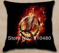catching fire cushion cover the hunger games pillow cover 3D print pillow case 50x50cm both side colorful printing Free shipping