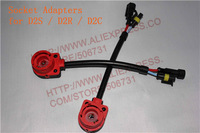 6pcs/lot Wiring Harness Socket Adapters for D2S / D2R / D2C HID Xenon Bulb (wires) FREESHIPPING
