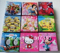 ( 20 style ) 10Pcs Cute Mix Children Watch With Boxes Cheap Kids Cartoon Watches Hello Kitty ,dora ,Despicable me  Watch