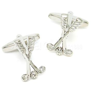 Novelty cufflinks,silver golf stick and ball cufflinks BP0969 - guaranteed high quality