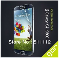 Best Quality Free Shipping Wholesale - GOR mobile HD screen Protectors for Samsung I9500 (Front and Back) retail packaging