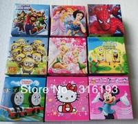 Free Shipping ( 20 style ) 20Pcs Cute Mix Children Watch With Boxes Cheap Kids Cartoon Watches Hello Kitty batman  ben10 Watch