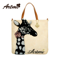 Artmi2013 handmade paillette sweet bag handbag messenger free shipping ivory colour high quality