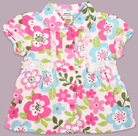 Free shipping 5pcs/lot girl printed floral lace cap short sleeve top with ruffle cap