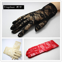 New arrival summer women's thin lace gloves uv anti-uv short design sunscreen gloves