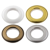 European fashion Top grade 12 colors Beaded trim Art circles large roman rings buckle eyelets grommets for curtains Nano mute
