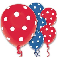 Red and Blue Polka Dot Latex Balloons 20ct For wedding Birthday Party Decorations