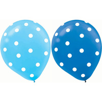 100 ct Blue Polka Dot Balloons For wedding Birthday Party Decorations