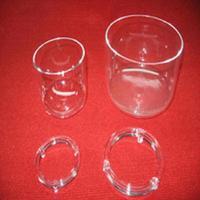 quartz glass crucible/laboratory measurements&analysis instruments/quartz tube/transparent or milk color/OEM accept/customized