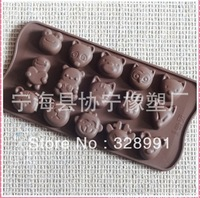 Factory Wholesale freeshipping silicon 12 holes animal cake chocolate mold, baking tools, Crystal Epoxy resin molds