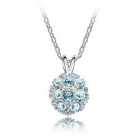 Crystal accessories ball - short design necklace charm Women