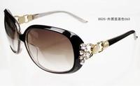 Women's pearl diamond fashion personality elegant sunglasses star classic sunglasses  free  shipping