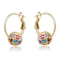 Accessories - austria crystal full rhinestone rolling ball crystal ball earrings