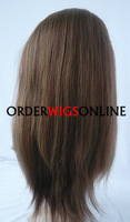 STOCK INDIAN REMY HAIR FULL LACE WIGS WITH BABY HAIR YAKI STRAIGHT 14INCH COLOR 4/27# FREE SHIPPING