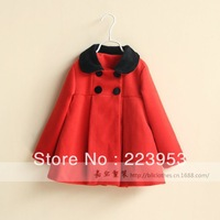 Free shipping 2013 winter new baby clothes ,baby coat ,fur collar coat