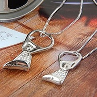 Lucky star binqibu ring pulls diamond letter lovers necklace