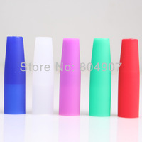 Silica Gel Silicon Silicone holder Mouthpiece For Disposible Electronic Cigarette E-shisha Time Somke  7 colors Free Shipping