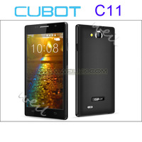 Wholesale CUBOT C11 Smartphone Android 4.2 MTK6572 Dual Core 5.0 Inch IPS Screen GPS 4GB ROM Dual Camera 5.0MP Black White CB050