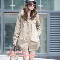 Fashion irregular sweep 2014 medium-long trench outerwear xay-5 big size clothing new arrival  spring XXXL XXXXL XXXXXL XXXXXXL