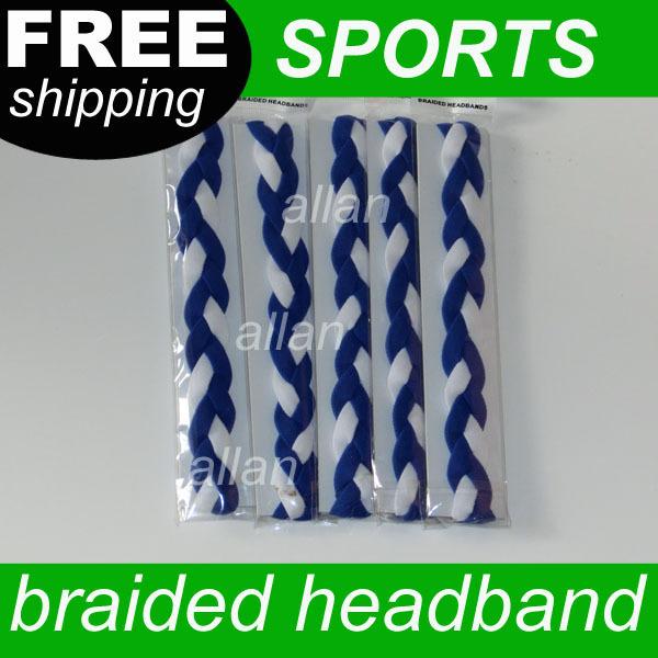 Wholesale 100pcs Different Color Sports Basketball Headband /Sweatband Head Sweat Band/Brace(China (Mainland))