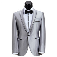 Groom arranged Marriage Suit Korean Silver Tuxedo Men Suit 2014 Spring XT-473