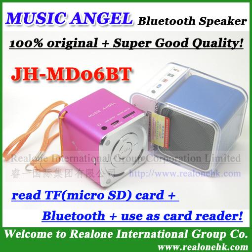 MD06BT02 Bluetooth Speaker+TF CARD 2GB, original MUSIC ANGEL mini speaker Newest version support bluetooth and tf card(China (Mainland))