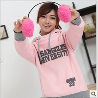 Free shipping !!2013 spring autumn Korean Women leisure sports Hoodie