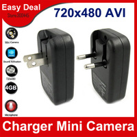 New USB AC Charger Camera Built in 4GB 720X480 AVI Video Recorder Mini DVR Hidden Camera