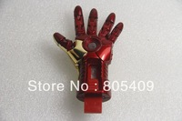 Wholesale Sale Flawless Avengers Iron Man LED Flash 1GB 2GB 4GB 8GB 16GB 32GB 64GB USB Flash 2.0 Memory Drive Stick Pen/ThumbCar