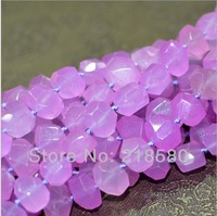 H-ANB01 5 Strands/lot  Candy Color Faceted Agate Stone Beads Irregular Shape 12x16mm
